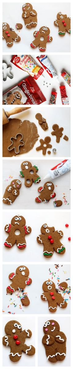 Just a few tweaks cause havoc for this gingerbread cookie community, making these traditional treats tons more fun!