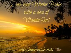 Nothing solves the winter blahs like a warm beach sunset over the Gulf of Mexico. Spend some time on a Florida Gulf Coast Island and feel your bones come back to life. contact us now http://beachrentals.mobi/