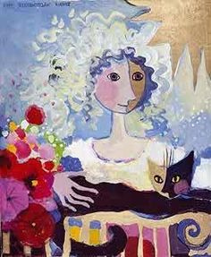 Girl and Kat, Rosina Wachtmeister