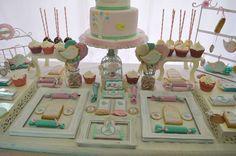 Deby B's Birthday / Birthday - Bird Shabby Chic at Catch My Party 1st Birthday Photos, Birthday Parties, 1st Birthdays, Photo Galleries, Shabby Chic, Maria Clara, Party Ideas, Centre, Bebe