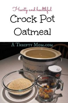 Crock Pot Oatmeal #O
