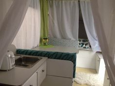 Pop Up Tent Trailer, Small Spaces, Curtains, Design, Home Decor, Insulated Curtains, Homemade Home Decor, Blinds, Draping