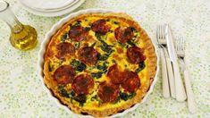 Quiche met chorizo en spinazie | VTM Koken