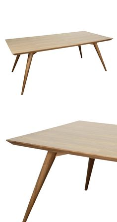 This must be what Swedish mid-century interior design was all about; it's hard not to salivate over the Elements Dining Table. Built from lovely solid ash wood, its subtle tones and retro profile conju...  Find the Elements Dining Table, as seen in the Modern Fall Soirée Collection at http://dotandbo.com/collections/modern-fall-soiree?utm_source=pinterest&utm_medium=organic&db_sku=114289