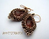 Tutorial Czech set. Earings and a ring with spikes by Akkesieraden