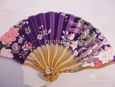 Chinese Hand Fans For Sale Silk size 12 x 8 inch mix color 10 pcs Free