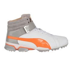 PUMA Titantour Ignite Hi-Top Special Edition Golf Shoes White Vibrant Orange aaa17a89ded