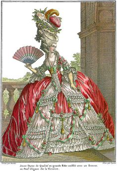 Marie+Antoinette+Fashion | Marie Antoinette Style Fashion Plate | Flickr - Photo Sharing!