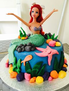 My little mermaid cake