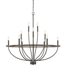 Buy the Capital Lighting Bronze Direct. Shop for the Capital Lighting Bronze Greyson 12 Light Wide Taper Candle Chandelier and save. Wagon Wheel Chandelier, Candle Chandelier, Black Chandelier, Chandelier Ceiling Lights, Simple Chandelier, Chandelier Ideas, Kitchen Chandelier, Ceiling Fans, Candelabra