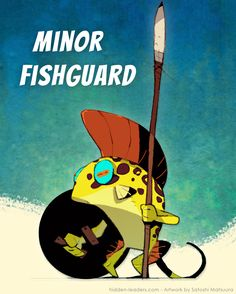 »Since the age of the great turtles this little fish guard waits for a promotion, or at least a changing of the guard.« #boardgames #characterdesign Little Fish, Live Action, Turtles, Board Games, Bff, Promotion, At Least, Character Design, Artwork