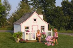 Gingerbread Playhouse for Kids. An excellent DIY project for the entire family!
