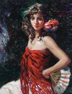 Jose Royo GITANA painting for sale - Jose Royo GITANA is handmade art reproduction; You can shop Jose Royo GITANA painting on canvas or frame. Paintings For Sale, Original Paintings, Spanish Painters, Various Artists, Art Reproductions, Handmade Art, Female Art, Art Boards, Digital Art