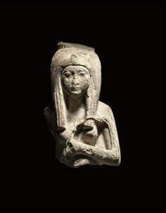 AN EGYPTIAN LIMESTONE BUST OF THE PRINCESS HENUT-TANEB REIGN OF AMENHOTEP III, 1391-1353 B.C. | Christie's