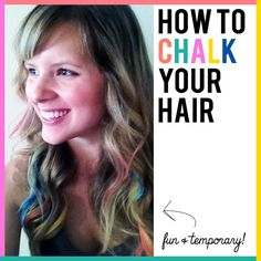 HOW TO CHALK YOUR HAIR- fun, temporary and no hair damage!