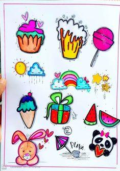 Cute Doodle Art, Cute Doodles, Love Frames, Drawing Frames, Graffiti Alphabet, Bullet Journal Art, Notes Design, Architecture Tattoo, Doodle Sketch