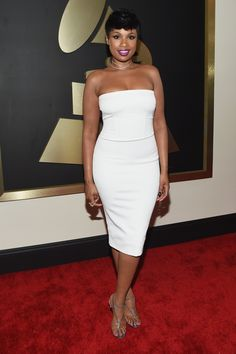 Jennifer Hudson arrives at the 57th Annual GRAMMY Awards on Feb. 8 in Los Angeles