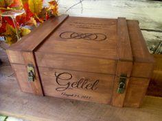 Wedding Wine Box Extra Large for Wedding Wine Ceremony Custom and Personalized on Etsy, $130.00