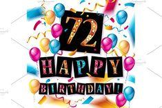 60 Happy Birthday background by Aromeo on Happy Birthday 18th, Happy Birthday Signs, Happy Birthday Greeting Card, Card Birthday, 15 Year Anniversary, Anniversary Greeting Cards, Golden Anniversary, Birthday Background, Birthday Design