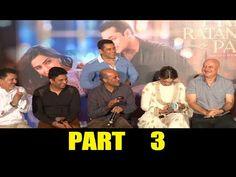 UNCUT Prem Ratan Dhan Payo trailer launch | Salman Khan, Sonam Kapoor | PART 3.