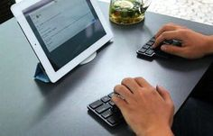 Split the typing difference with KeMice keyboard designed to be compact, portable, and mouse-like. Would you split your keys?