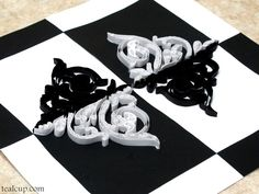 tealcup quilling gallery - Juxtaposition 1