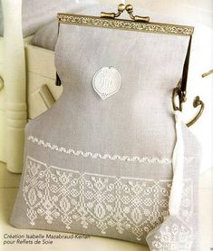 Lace embroidery for handbags. Discussion on LiveInternet - Russian Service Online Diaries