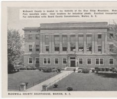 McDowell County Courthouse, Marion, N.C. :: North Carolina Postcards