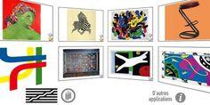Aplicación edudactiva para iniciar a los niños en el Arte. El Centre Pompidou crea un juego para familiarizar a los más pequeños con la creación mientras se divierten, colorean, hacen collages... 25 obras de arte (Kandinsky, Dalí, Matisse, Miró...) han dado el salto de las salas del museo parisino a esta aplicación.