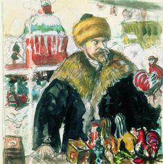 Self Portrait, 1912  Boris Kustodiev
