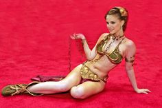 Natalie Portman as Slave Leia <3