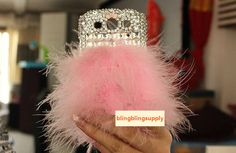 For Various Mobile Phones Bling Lovely Girly Cute Fluffy Pink Fur Crystals Case Cell Phone Cases, Iphone Cases, Iphone 3, Phone Covers, Htc One M7, Harley Quinn, Dna, Pretty In Pink, Galaxy S3