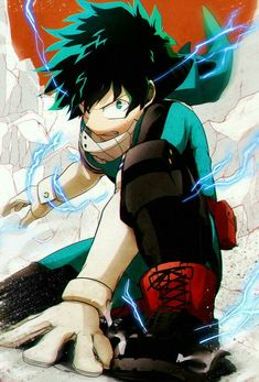 My Hero Academia (僕のヒーローアカデミア) - Izuku Midoriya (緑谷 出久) Boku No Hero Academia, My Hero Academia Manga, Manga Anime, Anime Art, Bd Comics, Anime Comics, Me Me Me Anime, Anime Guys, Photo Manga