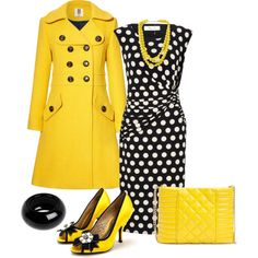 Yellow Accents and Trench Coat by justbeccuz on Polyvore featuring Precis Petite, Orla Kiely, Poetic Licence, GUESS by Marciano, Sonia Rykiel and Forever 21