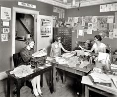 1925 Office Girls - by John McNab