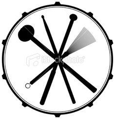 Drum Head Emblem Royalty Free Stock Vector Art Illustration