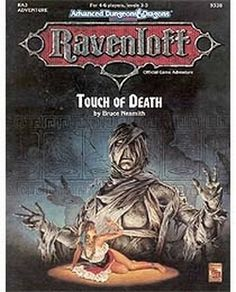 RA3 Touch of Death (2e) - Ravenloft   Book cover and interior art for Advanced Dungeons and Dragons 2.0 - Advanced Dungeons & Dragons, D&D, DND, AD&D, ADND, 2nd Edition, 2nd Ed., 2.0, 2E, OSRIC, OSR, d20, fantasy, Roleplaying Game, Role Playing Game, RPG, Wizards of the Coast, WotC, TSR Inc.   Create your own roleplaying game books w/ RPG Bard: www.rpgbard.com   Not Trusty Sword art: click artwork for source
