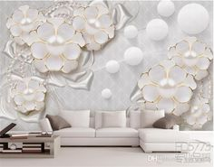 Large 3d European Pearl And Rose Jewelry TV Background Wallpaper Living Room Wallpaper Full Seamless Mural Model Wallpaper Modern Wallpaper From Fumei150716, $21.36| DHgate.Com