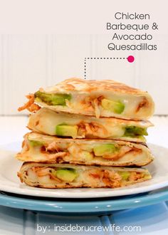 For a taste of the South, try making these BBQ Chicken and Avocado Quesadillas. PIN and SAVE this zesty recipe for later!