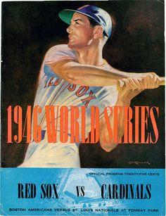 1946 World Series Program, Red Sox vs Cardinals