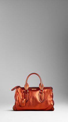 Petit sac en cuir métallisé | Burberry