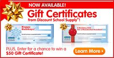 Discount School Supply - great resource for craft/learning supplies for DubZ
