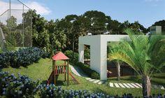 Playground do Condomínio fechado em Santa felicidade Paysage Evergreen. Condomínio Parque Paysage Evergreen.  Av. Fredolin Wolf, 3121 - Santa Felicidade - Curitiba.