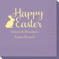 Script Happy Easter Bunny Napkins