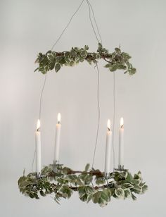 DIY Hanging Advent Wreath @themerrythought