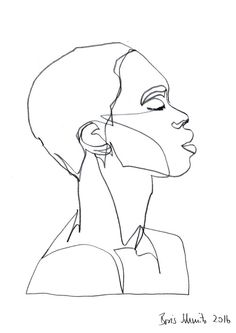 """Gaze 385″, continuous line drawing by Boris Schmitz"