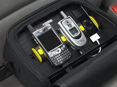 PowerStation Traveller  Charge up to three portable small electronic devices at the same time while at home or on the road through your car charger. The PowerStation Traveller ($32.99) includes a carrying case and adjustable sliders to keep your devices in place during a recharge.