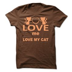 Love me love my cat brown T-Shirts, Hoodies. Check Price Now ==► https://www.sunfrog.com/Pets/Love-me-love-my-cat-brown.html?id=41382
