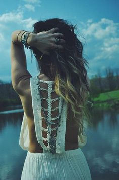 freepeoplekingofprussia photoshoot // photography via gorte - Trailing Jade Dress