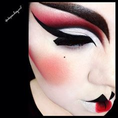 """love Geishas and Japanese Culture. I was able to celebrate my birthday with some fabulous Drag Queens, so this is for them. Lips - @NYX Cosmetics Black Liquid & Gel Liner, @Sugarpill Cosmetics """"Love +"""" Eyeshadow, and MAC """"Neo Orange"""" Pigment. Eyes - @Sugarpill Cosmetics """"Love +"""" Eyeshadow and @Violet Voss """"Ryder"""" Eyeshadow. NYX Black Liquid Liner, @starcrushedminerals """"White Lightning"""" and """"Black"""" Eyeshadows. MAC """"Flight"""" Lashes. Love + used for the ..."""